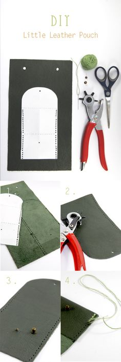 How to make a small leather wallet easily Leather Wallet Pattern, Small Leather Wallet, Leather Pouch, Diy Leather Projects, Leather Diy Crafts, Leather Craft, Leather Accessories, Leather Jewelry, Diy Leather Goods