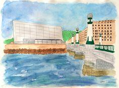San Sebastián watercolor