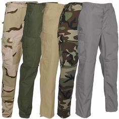 Tru-Spec BDU Ripstop Combat Trousers US Army Military Tactical Security Pants £13.95