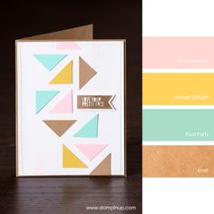 Pink Pirouette, Daffodil Delight, Pool Party, Kraft #StampinUpColorCombos