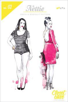 Nettie Dress & bodysuit pattern // Closet Case Patterns