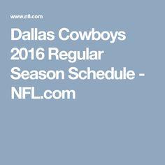 Dallas Cowboys 2016 Regular Season Schedule - NFL.com