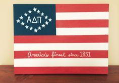 Adpi American Flag craft! #adpi #canvas #america
