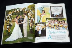 Wiregrass Weddings made the wedding program fans featured in this issue of Southern Livings Weddings.  We were so excited to see them, but were bummed to see that we were not credited for them  :(  We actually had another one of our wedding program fans in this same issue (it had a windmill on it).