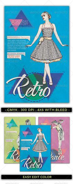 Fashion Retro Flyer Template #psd #flyer #template