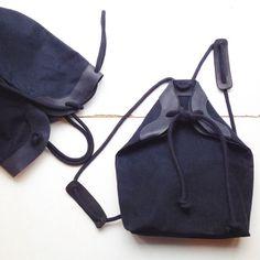 CANVAS+black+minimal+rucksack+with+leather+by+chrisvanveghel