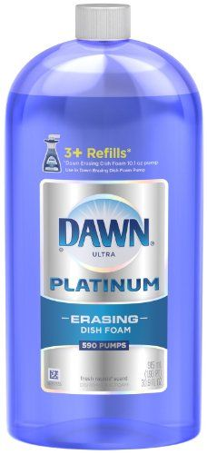 Dawn Ultra PLATINUM ERASING. MAGICALLY removes stains (and grass) out of clothes. I add 1 tea. to every load of laundry along with my liquid laundry detergent. (I have a front loader HE washer. A top loader will require more than 1 tea.)