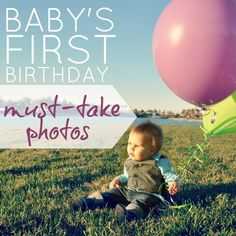 must take photos for babys first birthday- a new idea- 1 year old holding a pic of their own ultrasound. Some other cute ideas here.