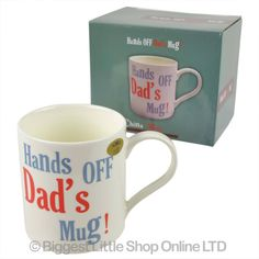 Hands Off Dad'S Mug Cup Fine China Gift Boxed Fathers Day Christmas Birthday