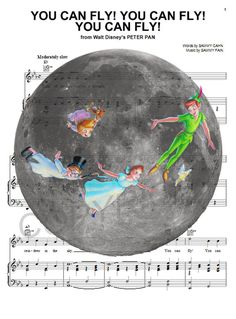 Peter Pan Moon Art Print by AmourPrints on Etsy