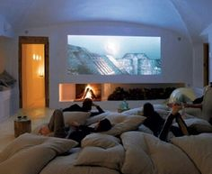 Oooh, I want this room!!! Movie time with the pack!