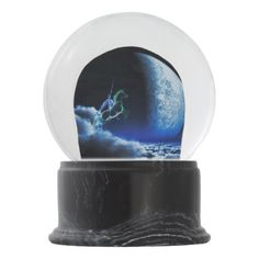 Knight in ghostly armor snow globe