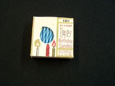 Vintage WILL & BAUMER 36 WAX BLUE SPIRAL HAPPY BIRTHDAY CANDLES Candle Factory, Birthday Cake With Candles, Candle Box, Vintage Candles, Spiral, Wax, Retro, Blue, Retro Illustration