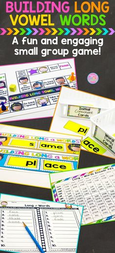 Building Long Vowel Words Small Group Game-Help students build strong word attack skills with this fun and engaging, hands-on, word building game. Building words is a great way for students to practice decoding and blending sounds in words.