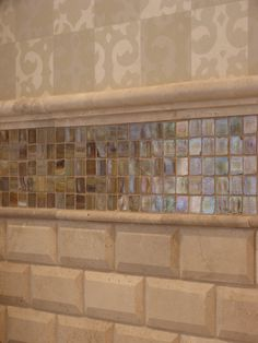 Details of tile in bathroom.....Using tile with hand crafted paper....
