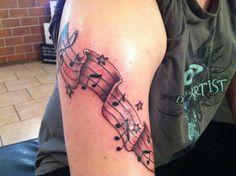 Musical Tattoo by DekenFrost.deviantart.com on @deviantART
