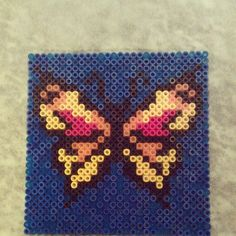Butterfly hama beads by crazycatladycph