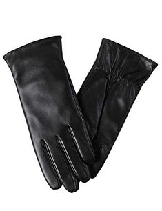 Buy Super-soft Leather Winter Gloves for Women Full-Hand Touchscreen Warm Cashmere Lined Perfect Appearance Cashmere Gloves, Cashmere Wool, Black Leather Gloves, Soft Leather, Cold Weather Gloves, Winter Gloves, Cool Watches, Fancy Dress, Women's Accessories