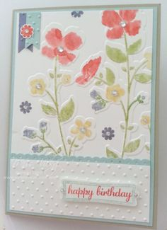 Female Birthday Card Stamp Set - Wildflower Meadow Embossing Folder - Wildflower Meadow Stampin' Up!