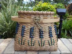 Texas Bluebonnet Floor Basket Handwoven by kimstexascreations, Etsy