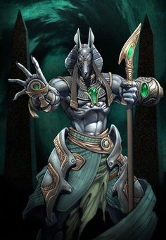 anubisThe Egyptian protector of the dead.