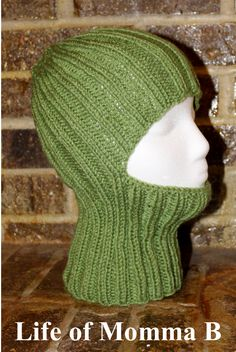 "Today I learned a new word – Balaclava. Webster defines it as ""a warm hat that covers the head, neck, and most of the face"". In my world we call it a ski cap. When I found this fr… Knitting Patterns Free, Knit Patterns, Free Knitting, Free Pattern, Knitting Needles, Baby Hats Knitting, Knitted Hats, Knit Or Crochet, Crochet Hats"