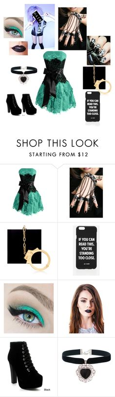 """Alternative school dance outfit"" by xxscenederellaxx ❤ liked on Polyvore featuring Charlotte Olympia, Jac Vanek and Lime Crime"