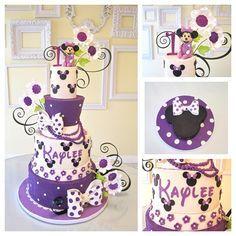 minnie purple birthday cakes - Google Search