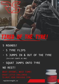 Tired of the Tyre! Tire Flipping Workout, Tire Workout, Sandbag Workout, Outdoor Workouts, Gym Workouts, At Home Workouts, Tough Mudder Training, Strength And Conditioning Workouts, Strength Program