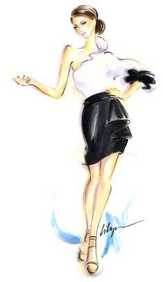 Givenchy S/S 2013 by Jennifer Lilya Illustration.Files: Addictive | Draw A Dot.