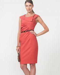 Double Weave Asymmetrical Shift Dress