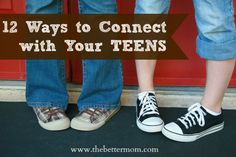 Looking for ways to connect with your teens?  This post has 12 great ways to do just that!