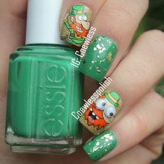 coewless St. patrick's day #nail #nails #nailart