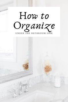 Don't stress about overthinking on how to organize under the bathroom sink! Here are some super simple and easy tips to tackle that area of your home with ease. Door Shoe Organizer, Sink Organizer, Declutter Home, Decluttering, Bathroom Sink Organization, Organization Ideas, Under Bathroom Sinks, Clear Bins, Mom Planner