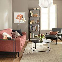 nice soft but modern room - like the wall color