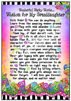 Discover and share I Love You Granddaughter Quotes. Explore our collection of motivational and famous quotes by authors you know and love. Grandma Quotes, Daughter Quotes, To My Daughter, Child Quotes, Quotes About Grandchildren, Grandkids Quotes, Great Quotes, Inspirational Quotes, Wacky Quotes
