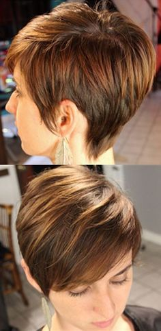 Cute-Everyday-Hairstyles-for-Straight-Hair-Short-Pixie-Haircut. I want to get my hair cut like this, without the highlights Cute Everyday Hairstyles, Cute Hairstyles For Short Hair, Short Hair Cuts, Straight Hairstyles, Short Hair Styles, Short Pixie, 2015 Hairstyles, Pixie Cuts, Pixie Hairstyles