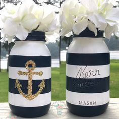 The Argument About Nautical Theme Party Centerpieces Decor Ideas Not to mention it may be used later as a decoration in your residence! Needless to sa. Nautical Bridal Showers, Nautical Party, Nautical Bachelorette, Navy Party, Nautical Anchor, Anchor Wedding, Nautical Bathrooms, Nautical Theme Bathroom, Couple Shower