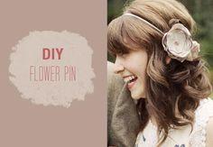 DIY Wedding Crafts : DIY: Flower Pin