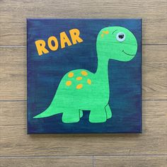 Looking for the perfect summer project for your little one?! This roar Dino painting always turn out amazing and is super fun to do for littler ones! Sharpie, Embellishments, Art Ideas, Delivery, Paintings, Kit, Amazing, Summer, Projects