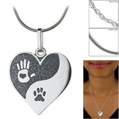 Sterling+Yin+Yang+Paw+Print+Necklace+at+The+Animal+Rescue+Site