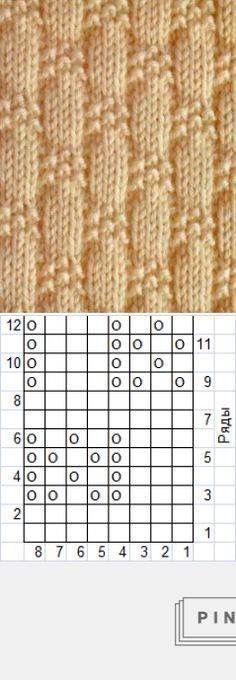 Texture knitting pattern: only knitting and purls ~~ - knitting and crocheting . Texture knitting pattern: only knitting and purls ~~ - knitting and crochet Texture knitting pattern: o. Knitting Stiches, Knitting Charts, Lace Knitting, Knitting Socks, Knitting Patterns Free, Stitch Patterns, Knit Crochet, Crochet Patterns, Simple Knitting