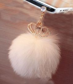 Dust Plug-earphone Jack Accessories cute Rabbit hair phone pendant with Flexible Head/ Cell Charms / Dust Plug / Ear Jack for Iphone 4 5 Ipad / Ipod Touch / Samsung Galaxy and Other Ear Jack three colors Ipod Touch, Things To Buy, Girly Things, Fur Keychain, Keychains, Iphone 4, Bling Phone Cases, Dust Plug, Jolie Lingerie
