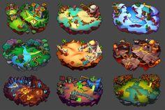 Monster Kingdom 2 Backgrounds & Maps, Alex Nguyen on ArtStation at https://www.artstation.com/artwork/monster-kingdom-2-backgrounds-maps
