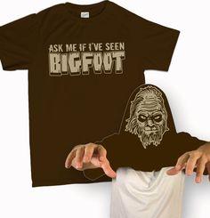 Ask Me If I've Seen BigFoot T-Shirt Funny Sasquatch Squatchin Costume Flip Over Tee Shirt