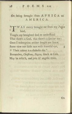 "Page from ""Poems on Various Subjects, Religious and Moral"" By Phillis Wheatley in 1773 (Library of Congress)"
