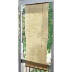 Yoshi Reed 2 1/2x6 foot Outdoor Shade by YOSHI. $19.99. Take in the air, beat the heat! Yoshi Reed Outdoor Shade, PRICED LOW! Easy on your eyes and your wallet! The Yoshi Reed Shade combines the beauty of bamboo with the outdoor-ready durability of a synthetic. Makes your porch more secluded while blocking out the harsh summer sun. We found a great buy and passed the savings along... outfit your home for LESS! Made in the shade: Natural roll-up synthetic bamboo shade with valan...