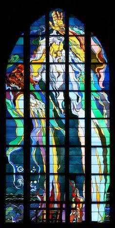 Kraków_-_Church_of_St._Francis_-_Stained_glass_01.jpg (811×1600)