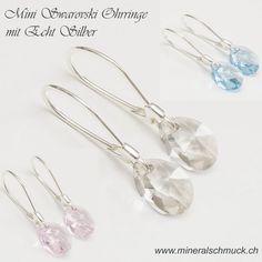 Swarovski Ohrringe mit 925 Sterling Silber Schmuck Online Shop, Mini, Amethyst, Sterling Silver Jewelry, Minerals, Rhinestones