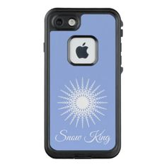 Snow King Personalized Modern Snowflake Design LifeProof FRĒ iPhone 7 Case - holidays diy custom design cyo holiday family